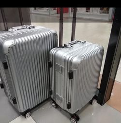 Durable polycarbonate suitcase. Delivery