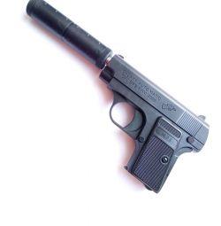 Children's pistol with silencer P6 +