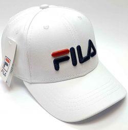 Καπέλο μπέιζμπολ Fila (λευκό)