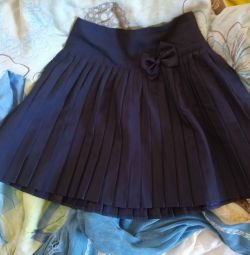 New, school, blue skirt 128 / 134cm.
