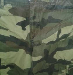 New camouflage pants with pockets 27 size.