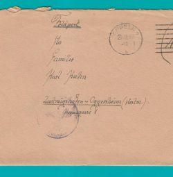 Німеччина, рейх. Конверт фельдпочти з листом.