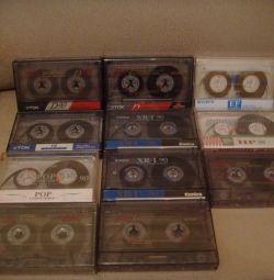 Audio cassettes TDK, Sony, Konica