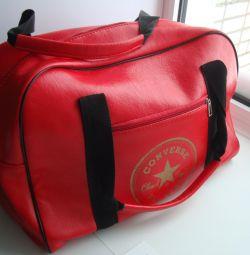 Bag with a zipper