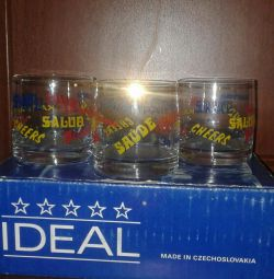 Glasses of Czechoslovakia of the 80s.