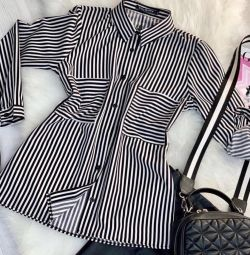 42/44 striped shirt