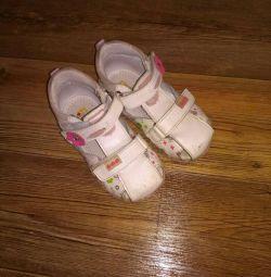 Sandale r.22 nat piele