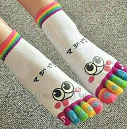 Socks female adult 5 fingers.
