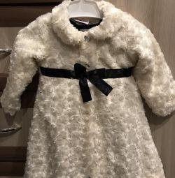 Dress and fur coat