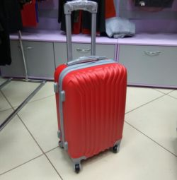Viktory suitcase on wheels. Delivery