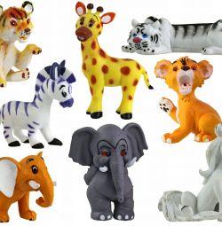 Oyuncaklar Vahşi hayvanlar 8 adet yeni, bir pakette