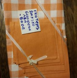 Tablecloth with napkins