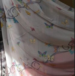 Turkish curtains with butterflies for child