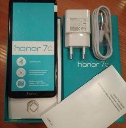 Смартфон Honor 7C синий 32 гб