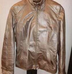 Leather metallic jacket