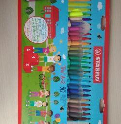 Pixuri de sticlă Stabilo 30 de culori