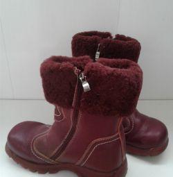 Δερμάτινες θερμές μπότες για κορίτσι Skorokhod