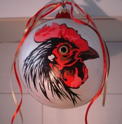 Balloon rooster.