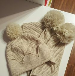 Hat and scarf Zara
