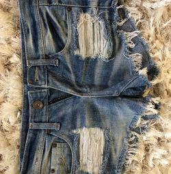 Denim shorts size 25