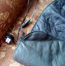 Electrohot-water bottle for car seat.