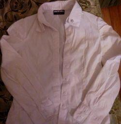 3 шкільні сорочки за всe 150р, колір білий !!!