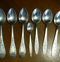 Spoons silver-silver with silver, USSR