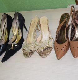 P37 Deri Sandalet