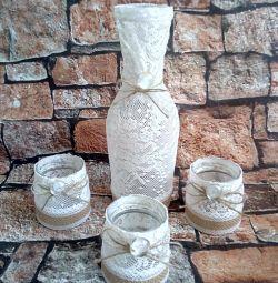 Vazo. Şamdanlar. Düğün hediyesi