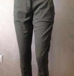 Укорочeнные брюки в стиле милитари!!размер s