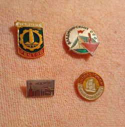 SSCB'nin rozetleri (4 adet)