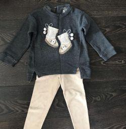 Kızlar için ceket ve pantolon