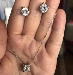 Срібний комплект Cartier 925