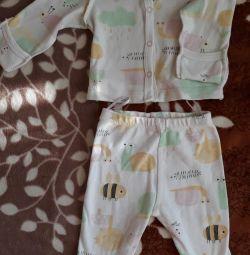 Bebeğin fanilaları, romper kıyafeti, sandbox 56р