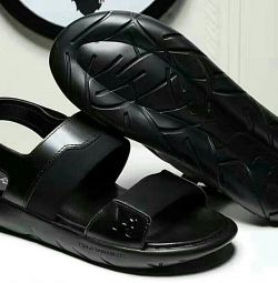 Leather sandals size 43