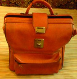 Briefcase red 34x32x18 cm