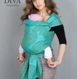 Май-слинг для новорожденных Diva Essenza, Menta
