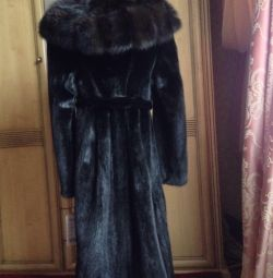 New mink coat with marten