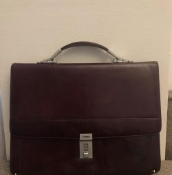 Gianfranco Ferre briefcase with combination lock