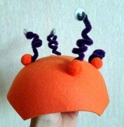 Ένα καπέλο για μια γιορτή ή ένα μαθήματα στο νηπιαγωγείο