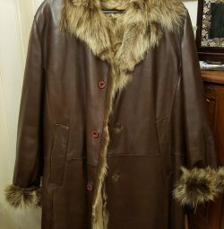 Sheepskin coat Emilio Mazzini. Italy