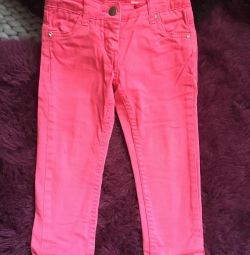 Jeans for a girl pink