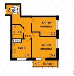 Daire, 2 oda, 51 m²