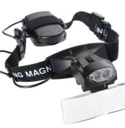 Magnifying glass, magnifying glasses with backlight