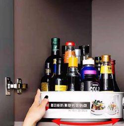 Rotating sauce & bottle holder