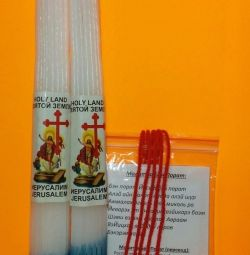 Jerusalem candles + 5 pcs Red Thread