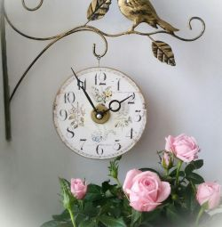 Wall clock in Provence style