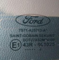 Скло двері Ford Mondeo IV, ліве, заднє