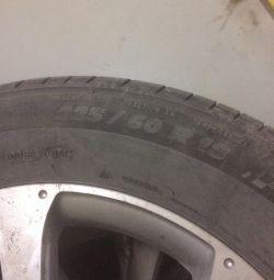 Mechelin summer tires on original Honda wheels