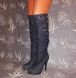 Denim boots 37